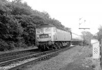 A northbound Brush Type 4 passes Eamont Bridge Junction in September 1967 with an Edinburgh/Glasgow train.<br><br>[Colin Miller&nbsp;25/09/1967]