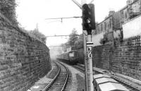 A DMU approaching Crosshill station from the city in 1962.<br><br>[David Stewart //1962]