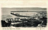 A Reliable Series postcard of Stranraer Harbour from the west, with the railway pier being the more distant one.<br><br>[Ewan Crawford Collection&nbsp;//]