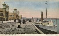 PS Minerva at Princes Pier. Valentines Series postcard<br><br>[Ewan Crawford Collection&nbsp;//]