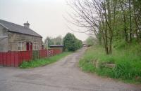 Looking west over the site of Bents station on the Longridge to Bathgate extension of the Wilsontown, Morningside and Coltness Railway built by the Edinburgh and Glasgow Railway. The building has seen some alterations since 1997.<br><br>[Ewan Crawford&nbsp;03/05/1997]