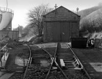 The engine shed at British Aluminium Company, Burntisland in 1984, by which time rail traffic had ceased.� The whole site is now covered by housing.<br><br>[Bill Roberton&nbsp;//1984]