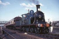 CR 123 on a photostop at Cleland station on 19 April 1965 with <I>Scottish Rambler No 3.</I><br><br>[G W Robin&nbsp;19/04/1965]