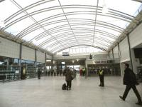 Part of the new Haymarket concourse on 19 December 2013.<br><br>[John Yellowlees&nbsp;19/12/2013]