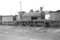Drummond <I>Small Ben</I> 4-4-0 no 54398 <I>Ben Alder</I> in sidings alongside Balornock Shed around 1961. Withdrawn from operational service in 1953, the former HR locomotive, built by Dubs & Co in 1898, was stored in a number of locations, pending possible preservation, before finally being cut up at MMS Wishaw in May 1966. <br><br>[David Stewart&nbsp;//1961]