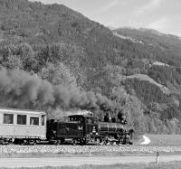 Scene on the Zillertalbahn on the afternoon of 3rd October 2013 as 83076 heads up the valley with the 15:02 Kaltenbach - Mayrhofen. <br><br>[Bill Jamieson&nbsp;02/10/2013]