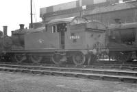 Class N7 0-6-2T no 69686 standing alongside the coal monster at Stratford [see image 32083] in September 1961, the month of its withdrawal. <br><br>[K A Gray&nbsp;09/10/1961]