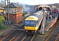 47643 leaves Boness with the 12.30 to Manuel on 29 December 2013.<br><br>[Bill Roberton&nbsp;29/12/2013]