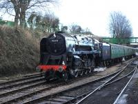 BR Standard class 9F 2-10-0 no 92212 with a train at Ropley on 28 December 2013.<br><br>[Peter Todd&nbsp;28/12/2013]