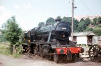 Preserved Stanier 8F 2-8-0 no 8233 photographed in July 1971 at Bridgnorth on the Severn Valley Railway.<br><br>[John Thorn&nbsp;/07/1971]