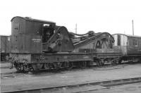 Cowans Sheldon 15t crane RS 1057/15 in the yard at Wick on 8 September 1961. [Ref query 10053]<br><br>[David Stewart&nbsp;08/09/1961]