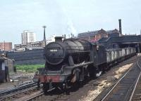 Stanier 8F 2-8-0 no 48168 heads a freight just east of Manchester Victoria on 1 June 1968. [Ref Query 5483] <br><br>[John Robin&nbsp;01/06/1968]