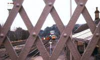 View east from the footbridge at Hexham station in July 1988.<br><br>[Ian Dinmore&nbsp;/07/1988]