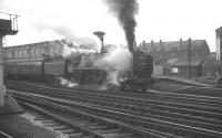 Britannia 70039 <I>Sir Christopher Wren</I> pulls away from Carlisle on 15 July 1967 with train 1M28 (the combined 2pm ex-Glasgow / 2.05pm ex-Edinburgh) for Manchester and Liverpool.<br><br>[K A Gray&nbsp;15/07/1967]
