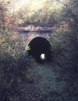 Midway between Ardingly and Horsted Keynes is Lywood Tunnel, seen here in 1977. Reopening of this stretch of the line features in the long term plans of the Bluebell Railway to extend the line back to Haywards Heath.<br><br>[Ian Dinmore&nbsp;//1977]