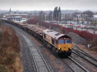 DBS 66197 hauls an engineers train from Millerhill to Thornton Junction (for Ladybank) through Kirkcaldy on 18 January.<br><br>[Bill Roberton&nbsp;18/01/2013]