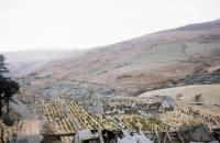 View over the old works at Bryn Eglwys being returned - rather artificially - to nature in April 1970. The top of the incline [see image 45987] is visible on the right of the picture.<br><br>[John Thorn&nbsp;/04/1970]