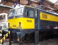 NS class 1500 no 1505 (former Class EM2 E27001) on display at the Manchester Museum of Science and Industry in May 2012. The locomotive ended its operational life on the Netherlands State Railways in 1986 and retains its NS livery [see image 22507].<br><br>[Colin Alexander&nbsp;/05/2012]