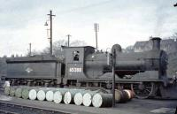 Snowplough-fitted J36 0-6-0 no 65288 seems to be over a barrel on its home depot at 62C Dunfermline on 30 March 1964. 65288 was one of the last two steam locomotives to be (officially) withdrawn by BR Scottish Region in June 1967.<br><br>[John Robin&nbsp;30/03/1964]