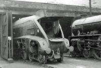 Locomotives on shed at Haymarket on 31 May 1963 include A4 Pacific no 60024 <I>Kingfisher</I> and B1 4-6-0 no 61245 <I>Murray of Elibank</I>.<br><br>[John Robin&nbsp;31/05/1963]