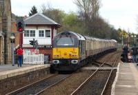 67005 brings up the rear of <I>The Sandgrounder</I> railtour as it passes Parbold on the return  from Southport on 31 March 2012.<br><br>[John McIntyre&nbsp;31/03/2012]