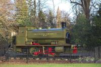Andrew Barclay 0-4-0ST 1996 of 1934 back on display at Pittencrieff Park, Dunfermline on 2 February 2014, having been refurbished by the Shed 47 Group at Lathalmond. [See image 36789]<br><br>[Bill Roberton&nbsp;02/02/2014]