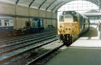 31171 stands at the platform at Newcastle Central in 1982 with station pilot 03021 in the background. <br><br>[Colin Alexander&nbsp;//1982]