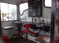 All we need now is an ergonomist and an interior trim engineer. Even in 1962, car interiors looked better than this. A cab view of shunting engine D2184 on the Colne Valley Railway in July 2013.<br><br>[Ken Strachan&nbsp;20/07/2013]