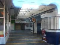 Looking into the now closed concourse area of the old station building at Wakefield Westgate on 4 February 2014, with information monitors still operational.<br><br>[David Pesterfield&nbsp;04/02/2014]