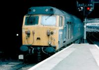 50014 <I>Warspite</I> at Birmingham New Street on 24 April 1982.<br><br>[Colin Alexander&nbsp;24/04/1982]