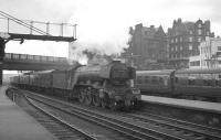 St Margarets A3 Pacific no 60041 <I>Salmon Trout</I> arrives at the north end of Carlisle on 3 July 1965 with the 9.50am Edinburgh Waverley - Leeds City.<br><br>[K A Gray&nbsp;03/07/1965]