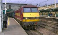 90020 leading new DRS 68002 about to depart from Carlisle on 5 February with a test run to Crewe. <br><br>[Ken Browne&nbsp;05/02/2014]