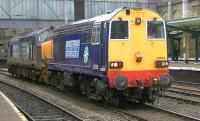 DRS 20309+37423 pass through Carlisle on 5 February during a light engine move to Crewe.<br><br>[Ken Browne&nbsp;05/02/2014]