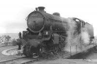 B1 61197 on the turntable at Mallaig on 6 September 1961.<br><br>[David Stewart&nbsp;06/09/1961]