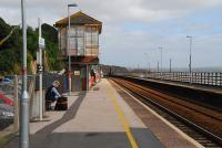 View north east towards Exeter at Dawlish in 2011. The signalbox is disused. The particularly damaged section of line featured in newspapers and on television is half a mile away from here.<br><br>[Ewan Crawford&nbsp;12/09/2011]