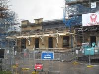 The original ticket office and main entrance to Wakefield Kirkgate station completely stripped during major refurbishment on 11 February 2014. The more recent entrance is seen to the right.<br><br>[David Pesterfield&nbsp;11/02/2014]