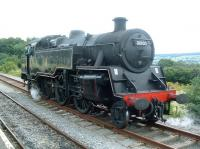 BR Standard class 4MT 2-6-4T no 80105 at Redmire in August 2009. <br><br>[Colin Alexander&nbsp;/08/2009]