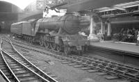 60070 <I>Gladiateur</I> waits to leave Newcastle Central on 24 June 1961 having taken over the 10.25am Scarborough - Glasgow Queen Street.<br><br>[K A Gray&nbsp;24/06/1961]
