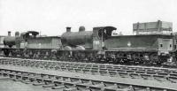 Locomotives in the shed yard at Kingmoor on 26 June 1962. Nearest the camera is ex-CR Pickersgill 0-6-0 no 57653. <br><br>[John Robin&nbsp;24/06/1962]
