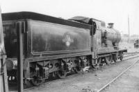 Pickersgill 4-4-0 no 54495 photographed on shed at Wick in September 1961.<br><br>[David Stewart&nbsp;08/09/1961]