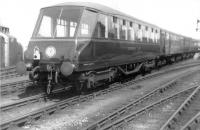<I>Beaver Tail</I> observation car on the rear of a train at Mallaig on 22 May 1961. <br><br>[David Stewart&nbsp;22/05/1961]