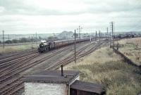 Jubilee 45742 <I>Connaught</I> approaching Law Junction on 28 September 1964 with a Blackpool - Aberdeen special.<br><br>[John Robin&nbsp;28/09/1964]