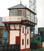 I have no idea whether the signal box builder liked a pint - why do you ask? Seriously, the offset cabin probably made good sense in the original box location not far away at Coalville Crossing. [see image 26664]<br><br>[Ken Strachan&nbsp;17/05/2009]