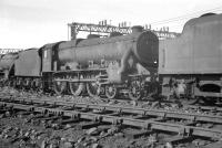 Black 5 44750 in the sidings at Speke Junction in April 1963, some 5 months before official withdrawal.<br><br>[K A Gray&nbsp;02/04/1963]