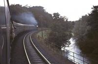 J37 0-6-0 no 64569 with the RCTS <I>Fife Coast Rail Tour</I> from Glasgow on 28 August 1965. The train is just west of Cameron Bridge heading for Thornton Junction, where it will hand over to no 256 <I>Glen Douglas</I> [see image 45866]. [Ref query 6083]<br><br>[G W Robin&nbsp;28/08/1965]