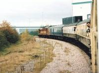 The Pathfinder Tours Industrious Trader eases round the curve into the former Keresley Colliery, a little way North and West of Three Spires Junction. [See image 35643]<br><br>[Ken Strachan&nbsp;15/11/2008]