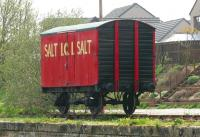 A locally restored <I>'ICI Salt'</I> box van standing outside Appleby Heritage Centre in May 2006.<br><br>[John Furnevel&nbsp;06/05/2006]