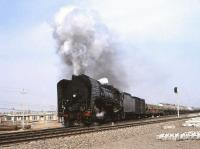 QJ 6882 with a freight at Da-an Bei in April 2000. [See image 46552]<br><br>[Peter Todd&nbsp;19/04/2000]