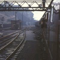A2 Pacific no 60532 <I>Blue Peter</I> sets off from Waverley station on 8 October 1966 with the BR <I>Blue Peter Excursion</I> bound for Carlisle via Hawick. [See image 38842] <br><br>[G W Robin&nbsp;08/10/1966]