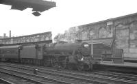 One of Ayr shed's Black 5s no 45486 stands at Carlisle platform 4 on 5 September 1964 after bringing in the summer Saturday 8.5am holiday special from Heads of Ayr.<br><br>[K A Gray&nbsp;05/09/1964]